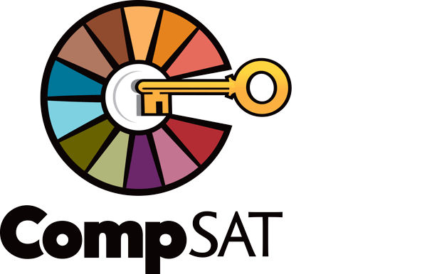 CompSAT wheel and key logo
