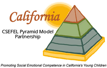 Pyramid showing teaching model for young children