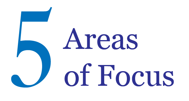 5 areas of focus